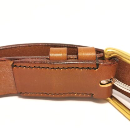 Classic Conker Brown Leather Belt by The Belt Makers sewing