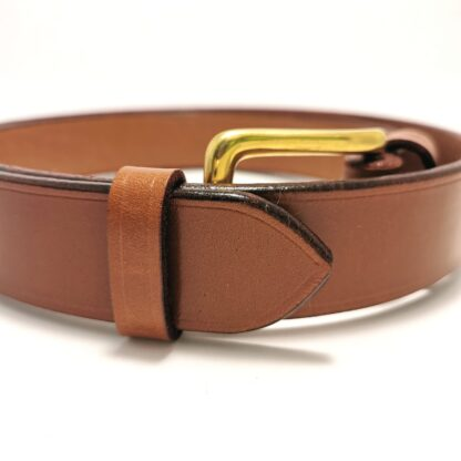 Classic Conker Brown Leather Belt by The Belt Makers tail