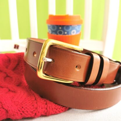 Classic Conker Brown Leather Belt by The Belt Makers lifestyle