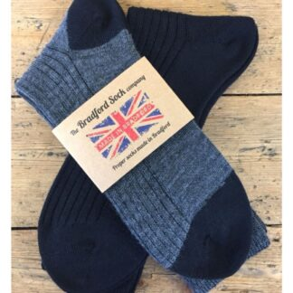The Bradford Sock Company twin pack thin socks in blue