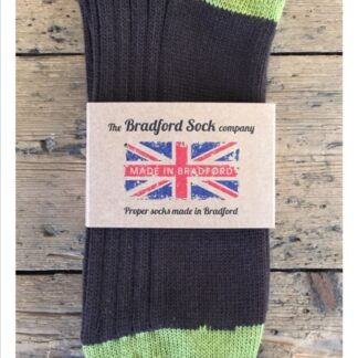Cotton and Wool Socks in Brown and Green by The Bradford Sock Company