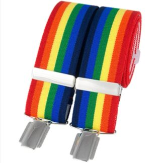 Rainbow Elastic Braces, made in England, from Dalaco, Crediton