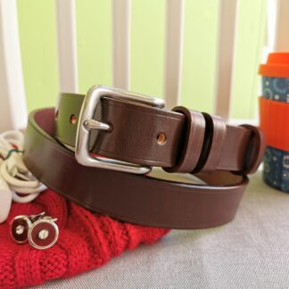 Classic Australian Nut Brown Leather Belt by The Belt Makers lifestyle