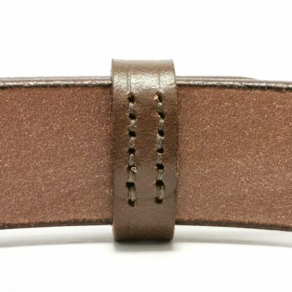 Classic Australian Nut Brown Leather Belt by The Belt Makers keeper stitching