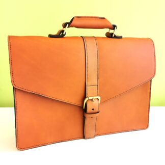 Essential Briefcase by Henry Tomkins Leather main