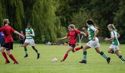 Marie's charity ECCT girls football camp