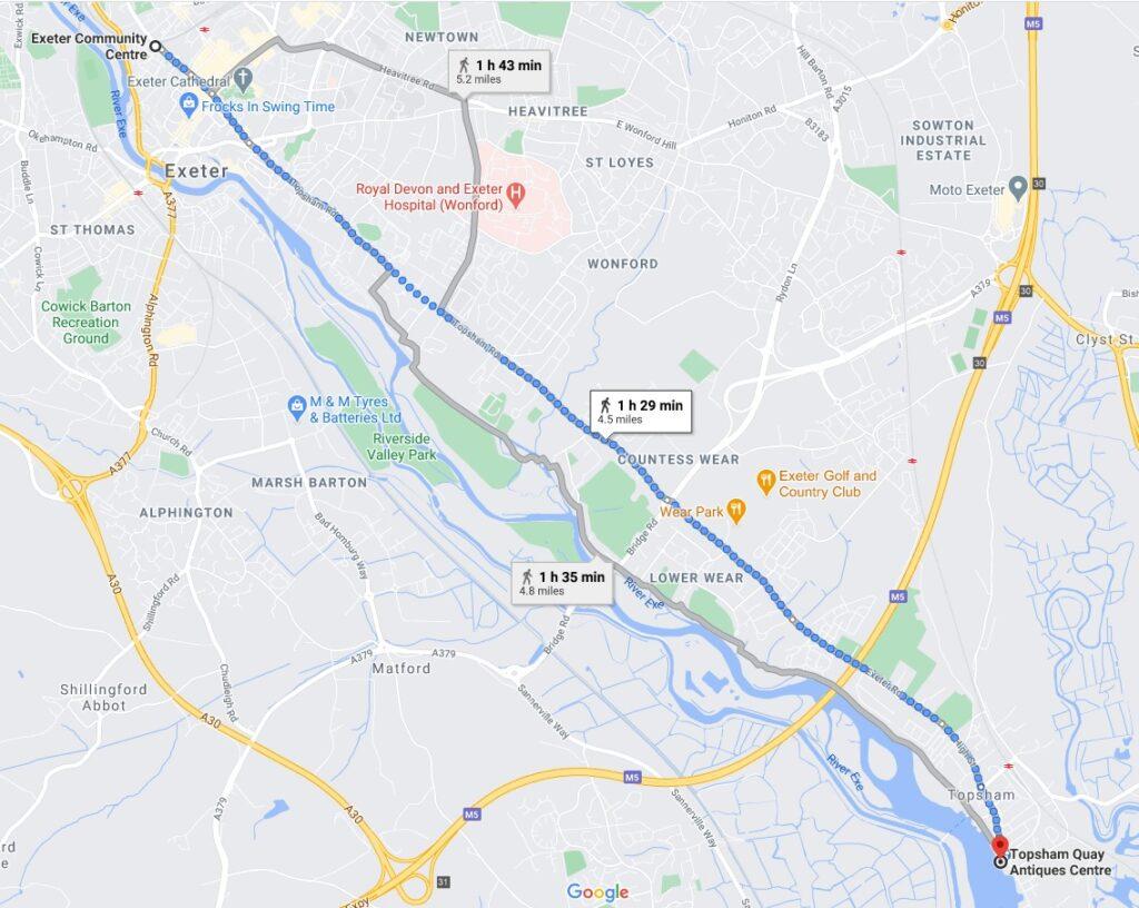 Marie's marathon route