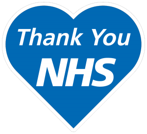 Thank You NHS on blue heart