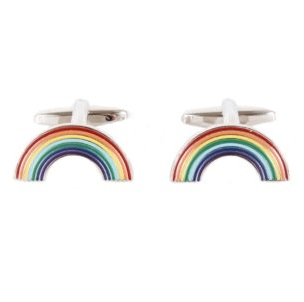 Cufflinks - Rainbows for NHS
