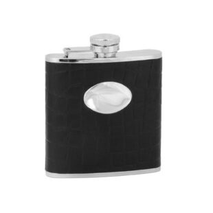 Hip Flask Black Textured 5oz