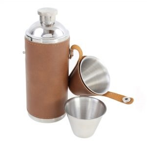 Hip Flask - For Sharing, with Two Cups