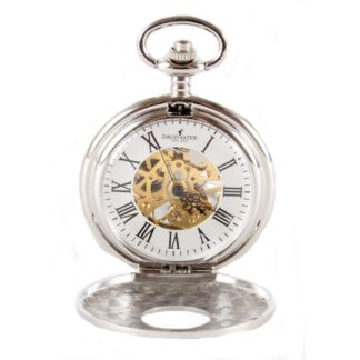 Mechanical Pocket Watch with Window from Dalaco front open