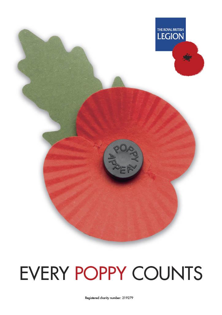 2020 Royal British Legion Poppy Appeal thank you poster