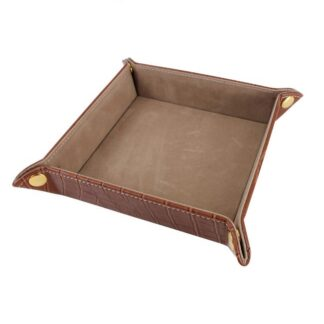 Valet Tray - Brown Faux Croc AC-0010_2_600x from Dalaco