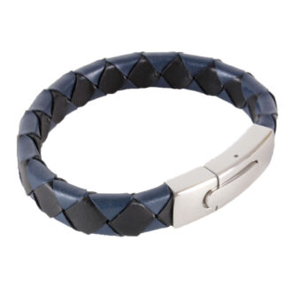 Bracelet - Blue and Black with Steel Clasp B-16 from Dalaco