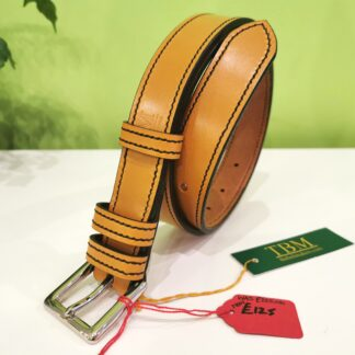 Belt - Single Border in London Tan and Green-Black