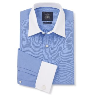 French Blue Double Cuff shirt from Savile Row Company