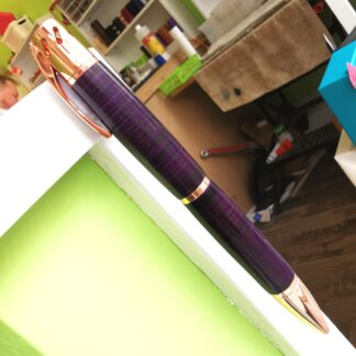 Aromatherapy by Leather Pens of Somerset - purple body, clip to the left