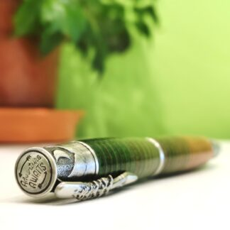 Leather Pen - Adventure Awaits in Green and Natural by Leather Pens of Somerset - Lifestyle
